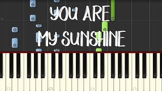 Moira Dela Torre - YOU ARE MY SUNSHINE (Meet Me in St. Gallen OST)  || Synthesia Piano Tutorial