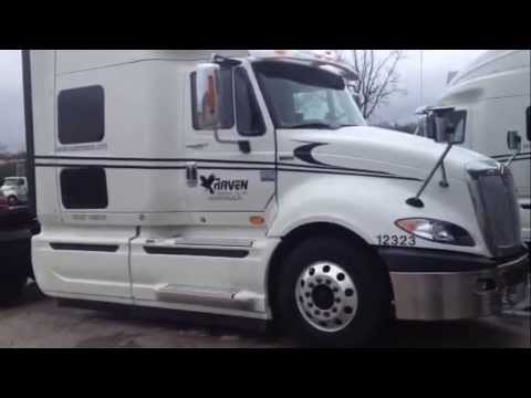 Quick Tour Of The Little Guy Truckers 2014 International Prostar With Raven Transport.