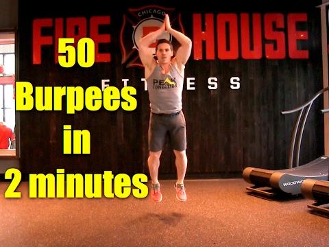 50 Crossfit Burpees in under 2 minutes