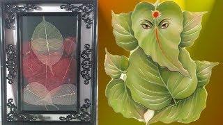 DIY-Art Attack   Skeleton Leaf Lord Ganesh.