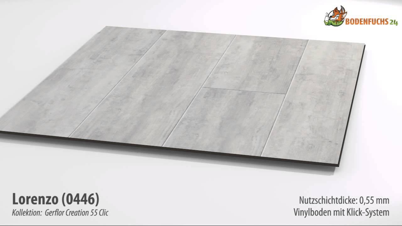 gerflor creation 55 clic - lorenzo 0446 - klick-vinylboden auf