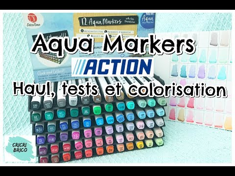 Haul Action Aqua Markers Partie 1 Tests Nuancier Et Colorisation