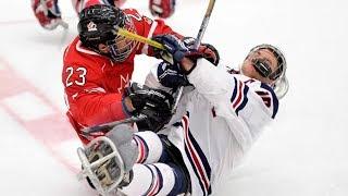 Sledge Hockey: Goals/Hits/Saves/Scrums