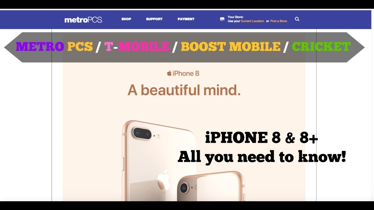iphones for metro pcs iphone 8 amp 8 plus metro pcs boost mobile cricket 15572