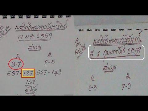 เลขเด็ดกำลังวัน งวดวันที่ 1/02/59 (ผลงานเข้าโต๊ด 137)
