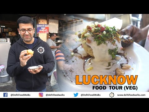 Lucknow Vegetarian Food Tour – Malai Paan + Basket Chaat + Makhan Malai