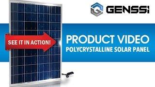 GENSSI 100W Solar Panel 12V DC For Marine RV Off-Grid - Test