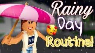 MY RAINY DAY ROUTINE!! | Roblox Bloxburg| Cutsy88