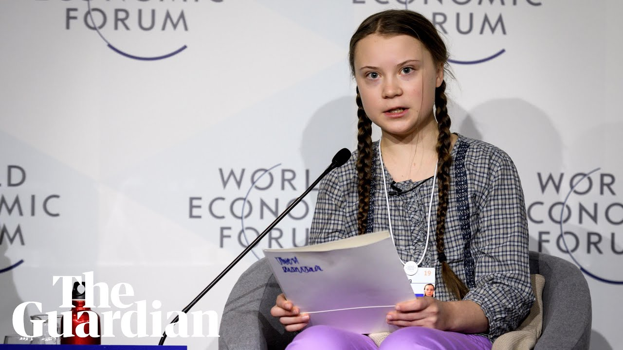 Trump has parting words for the star of Davos, Greta Thunberg