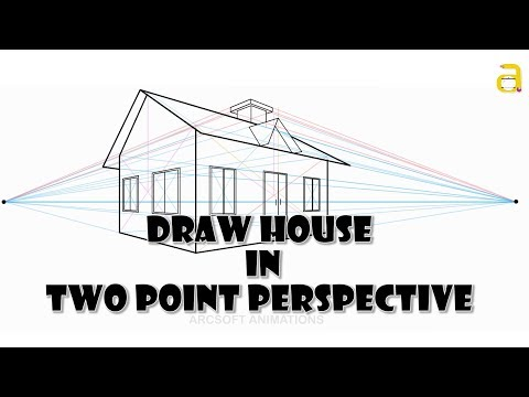 How To Draw A House In Two Point Perspective - Perspective Drawing - Perspective Drawing Tutorial