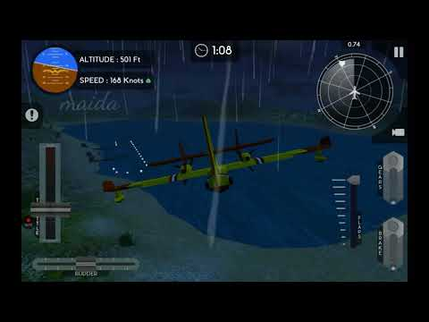 Avion Flight Simulator |Courier via Air | Canadair CL415 |   Realistic mode | aeroplane sim