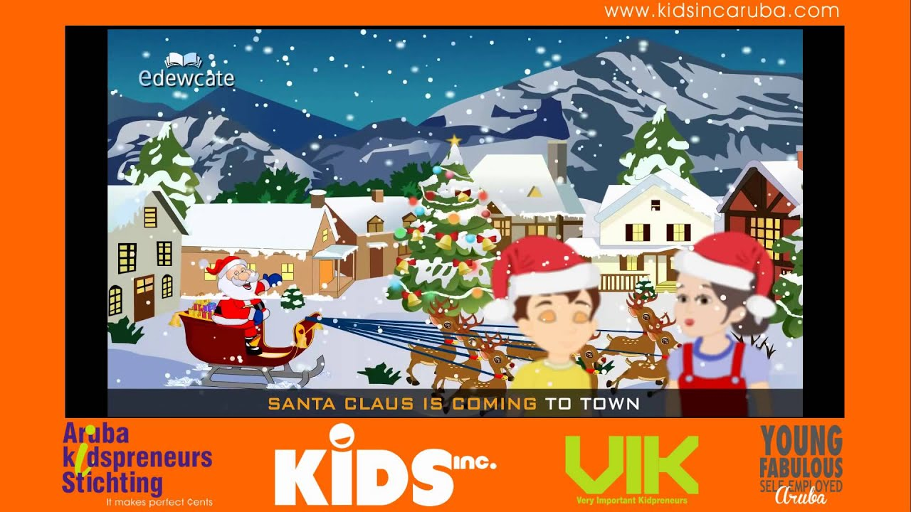 Santa Claus is Coming to Town Kids Christmas Song - YouTube