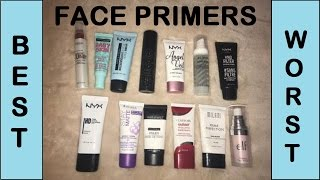 BEST and WORST DRUGSTORE FACE PRIMERS
