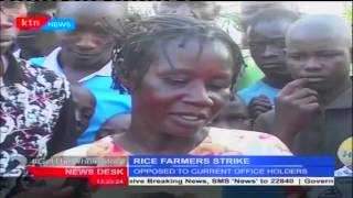 Rice farmers in West Kano in Nyabondo Kisumu County demonstrate over office holders