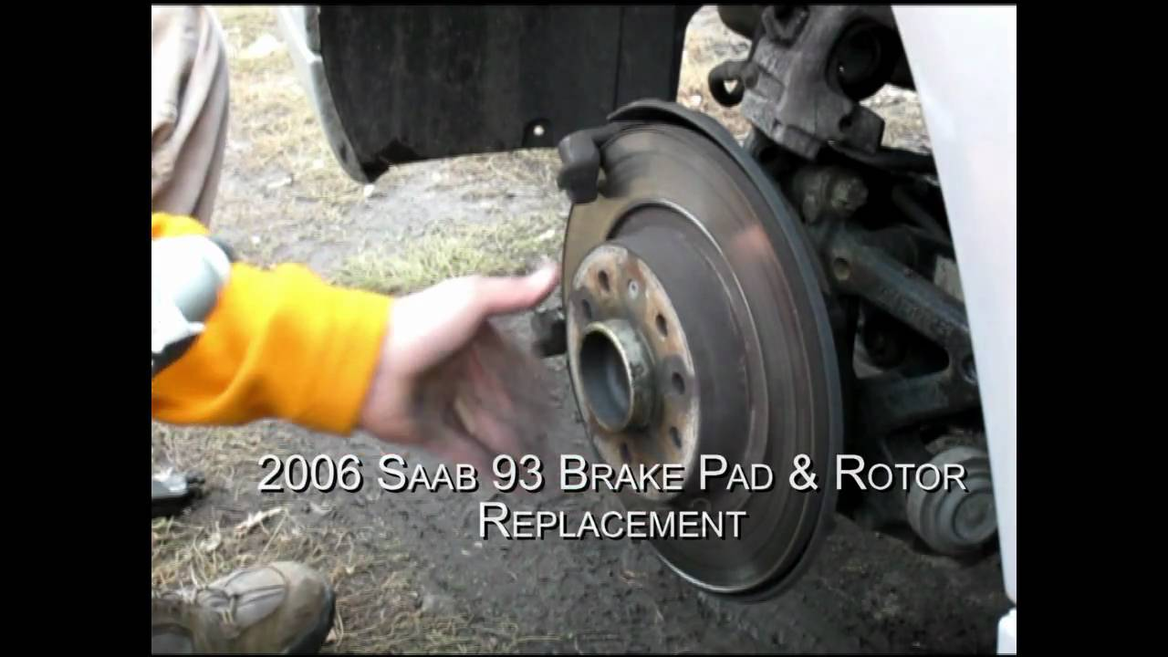 Brake Pad And Rotor Replacement >> 2006 Saab 93 9-3 Brake Pad & Rotor Replacement - Part II - YouTube