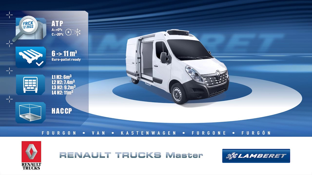 11753cd9fe RENAULT TRUCKS Master refrigerated van - YouTube
