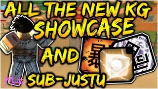 [091] SHOWCASING/REVIEWING THE 3 NEW KG/SUB-JUTSU| DUST EXPLOSION & BLACK LIGHTING| ROBLOX NRPG- Beyond