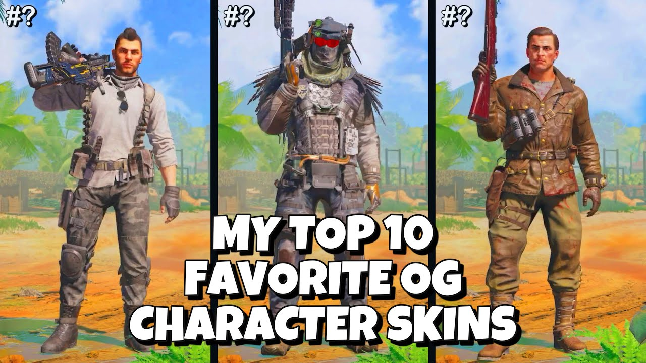 My TOP 10 FAVORITE OG Character Skins in Call of Duty Mobile || Part 6 #shorts