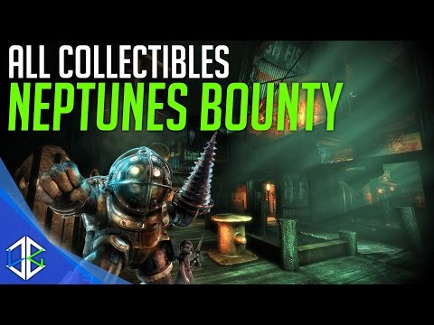 Bioshock The Collection - All Collectibles Neptune's Bounty (Audio Diary, Tonics, Plasmids, Reels)