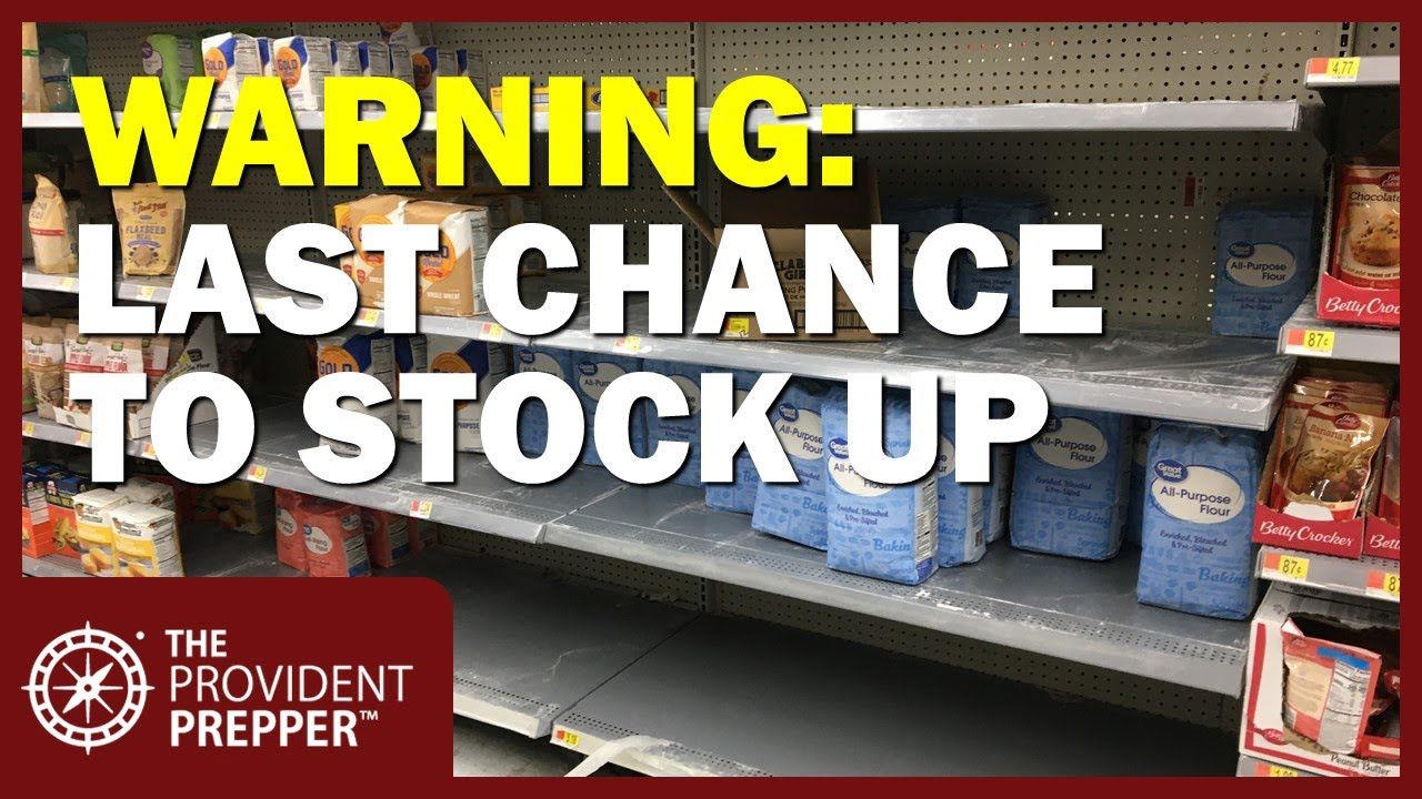 Warning! Challenging Times are Ahead - Stock Up!