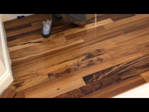 Exotic Brazilian Koa Or Tiger Wood Hardwood Floor(first Time Hardwood Floor Installation )