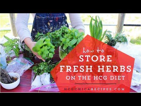 Storing Fresh Herbs For Phase 2 HCG Diet Eating
