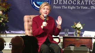 watch hillary clinton delivers remarks at national democratic club