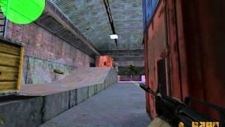 Jogando Counter Strike 1.6 com BOTS Mapa Assault - Parte 1