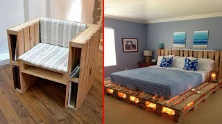 Creative DIY Pallet Furniture Ideas - Cheap Recycled Pallet - Chair Bed Table