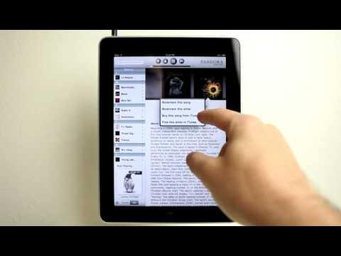 Pandora iPad App Demo