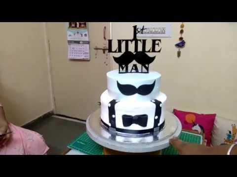 Little Man S First Birthday Cake Design Youtube
