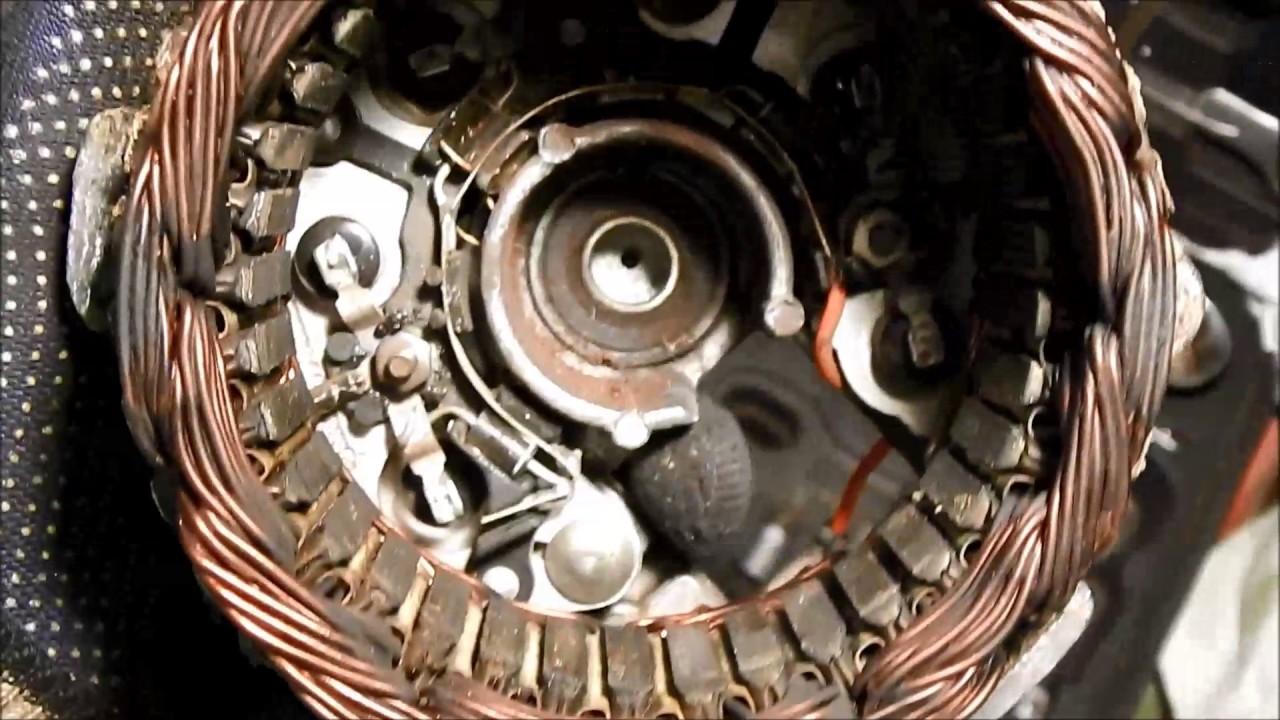 ВАЗ-2107. Нет зарядки АКБ. Ремонт генератора.