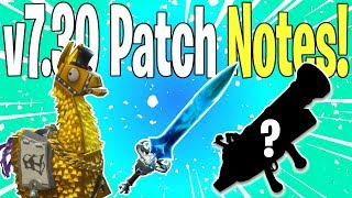 NEW SPECTRAL BLADE & X-RAY LLAMA TYPE! Update v7.30 Patch Notes | Fortnite Save The World News