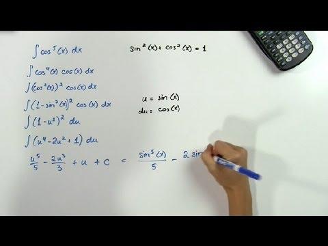 How To Integrate Odd & Even Powers Of Sine & Cosine : Math Problems & Trigonometry