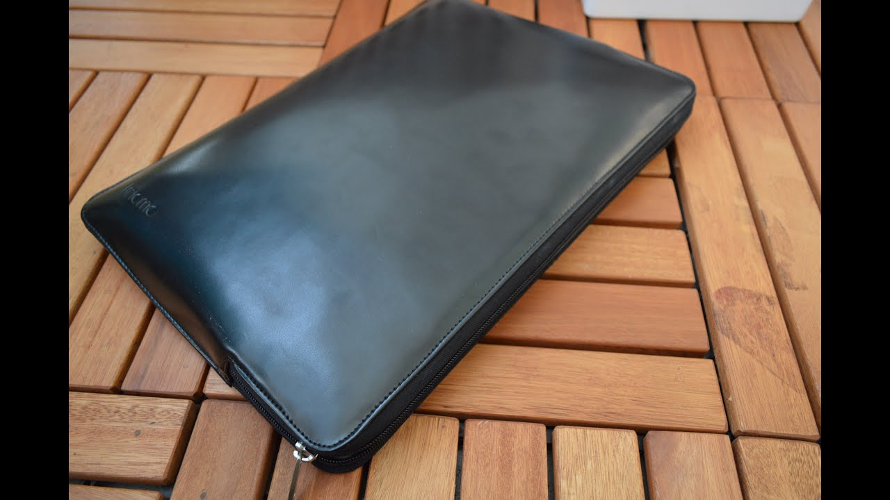ea8bd8fb23ac Knomo Leather Sleeve for MacBook Pro 15
