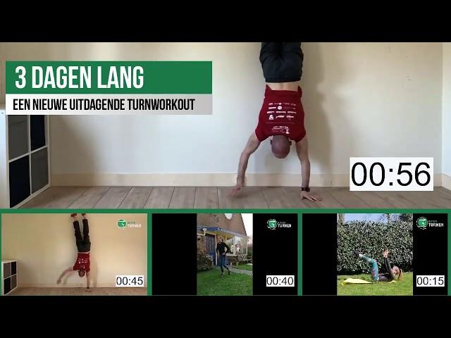 3 daagse Home Workout Challenge voor turnsters