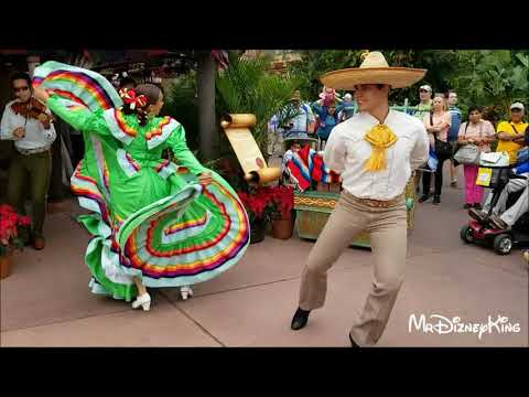 Beautiful Holiday Folklorico Dancers Showcase Mexico at Epcot
