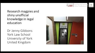 CUHK LAW Directions 2020 | Research Magpies & Shiny Unofficial Knowledge in Legal Education