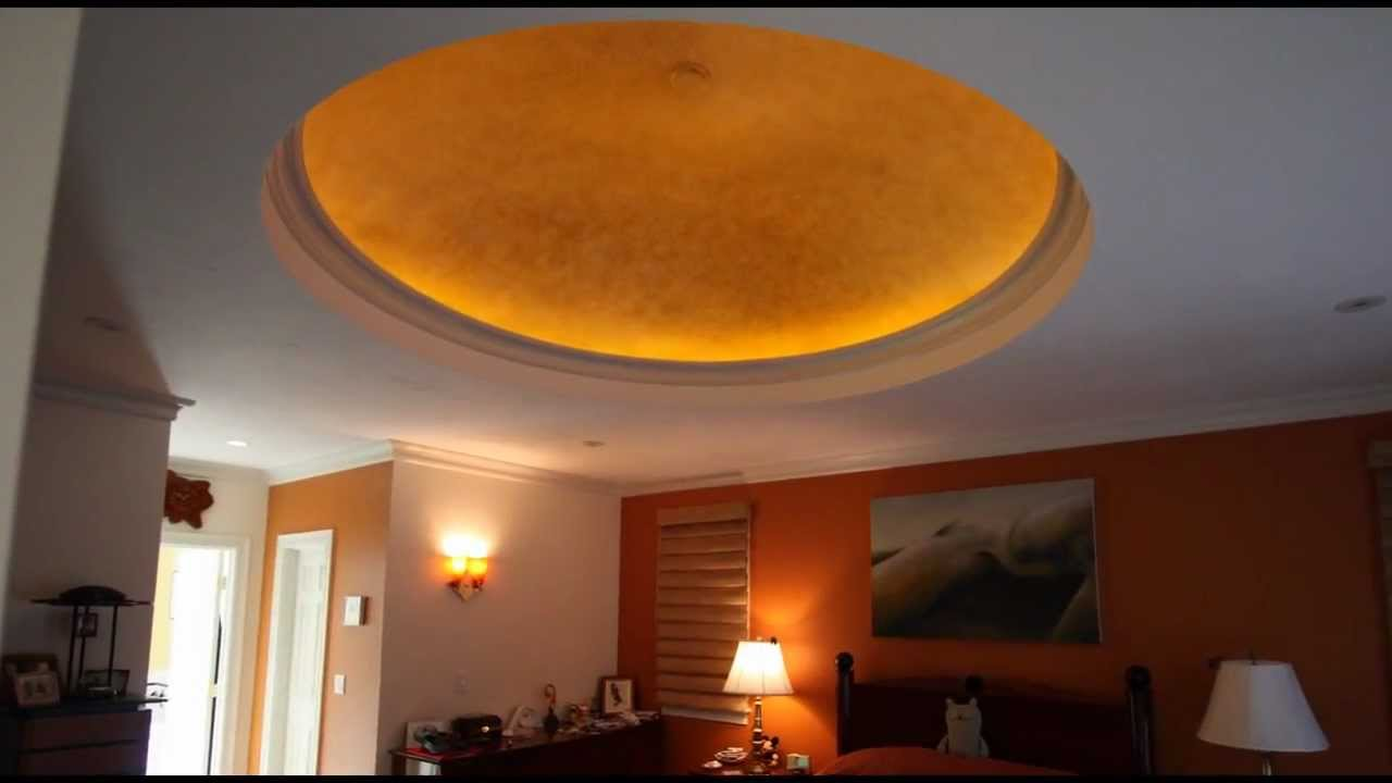 Custom Dome Ceiling w/LED lighting - Almar Building u0026 Remodeling - Archwaysandceiling.com - YouTube & Custom Dome Ceiling w/LED lighting - Almar Building u0026 Remodeling ... azcodes.com