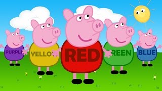 Learn Colors With Funny Pig Peppa Pig Style | Nursery Learning Children and Kids | Baby Rhyme Colors