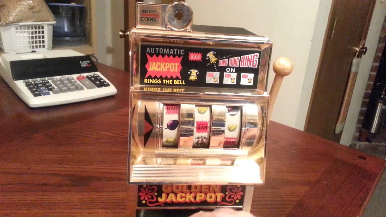 Golden jackpot toy slot machine