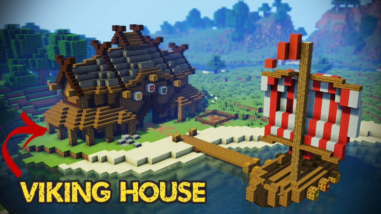 Minecraft viking house tutorial youtube for How to build a house in a mountain