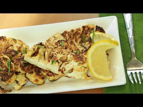"""Grilled Cauliflower """"Steak"""" Recipe"""