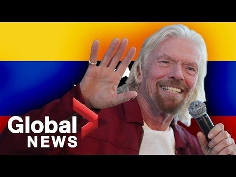 Billionaire Richard Branson announces Venezuelan benefit concert Mp3