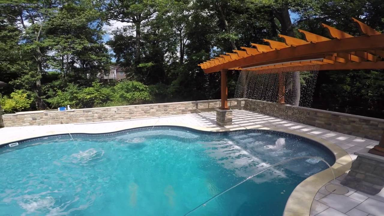 Grecian pools intl custom vinyl liner inground pool youtube for How to close a inground swimming pool