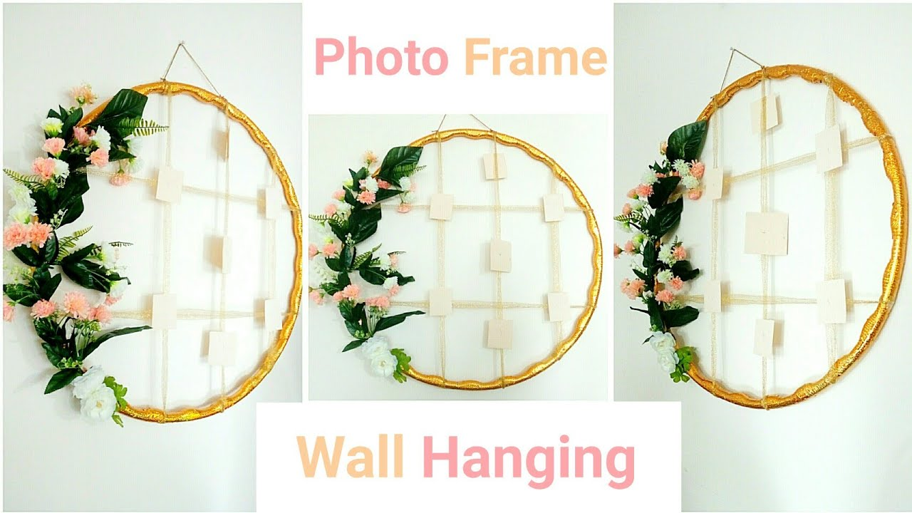 Hula Hoop Handmade Photo Frame Wall Hanging Beautiful Home Decor