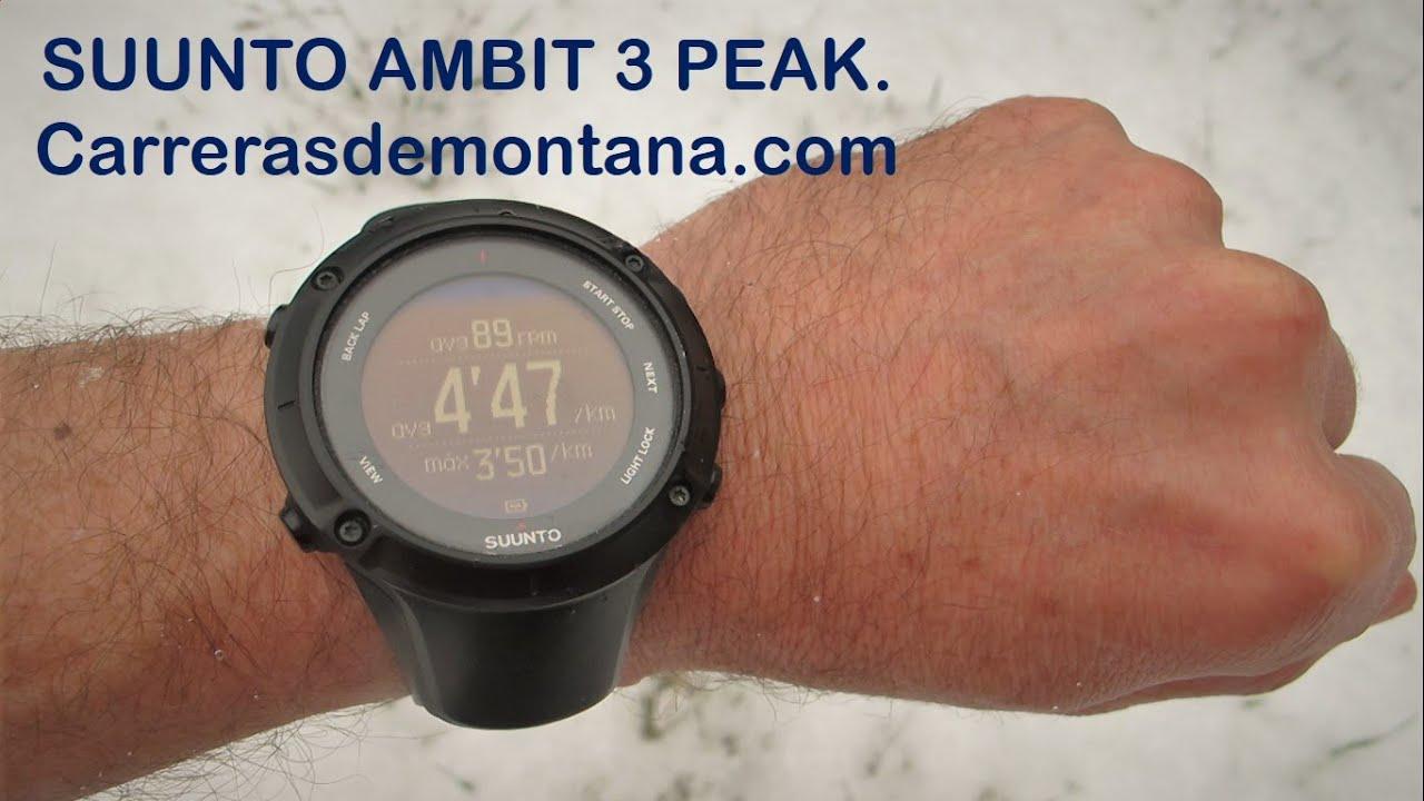 Suunto Ambit3 Peak: Reloj gps trail running y montaña ...