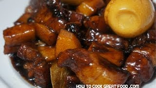 Sweet Pork & Egg Recipe - Pinoy Filipino Cooking - Tagalog English