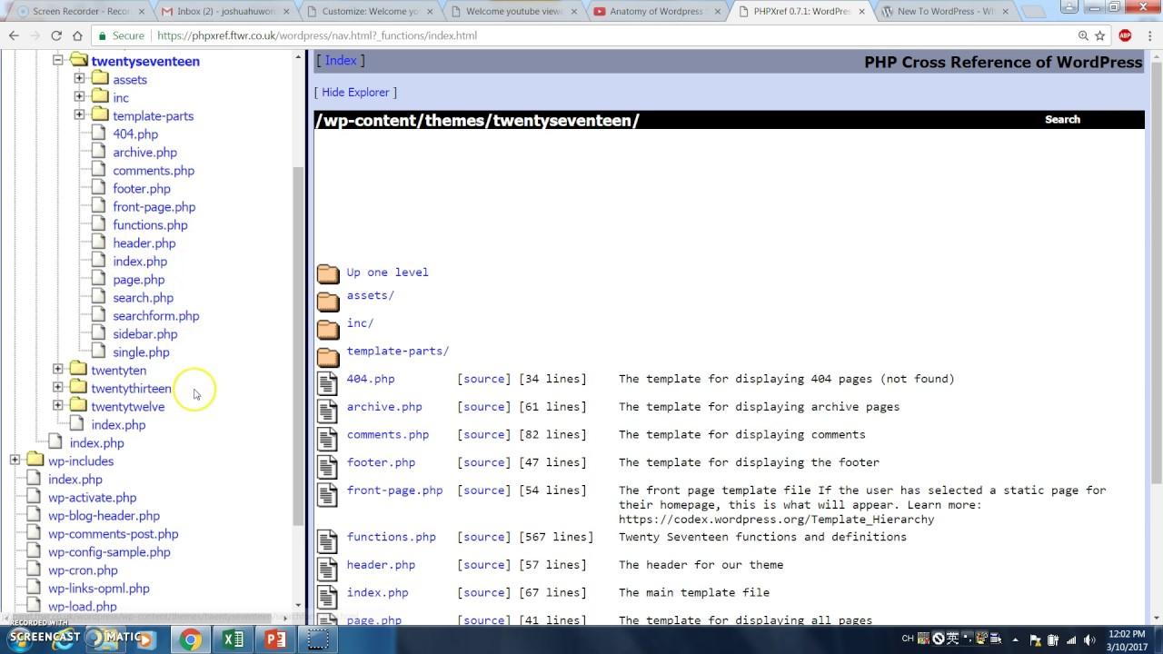 Anatomy of Wordpress site 2 - YouTube