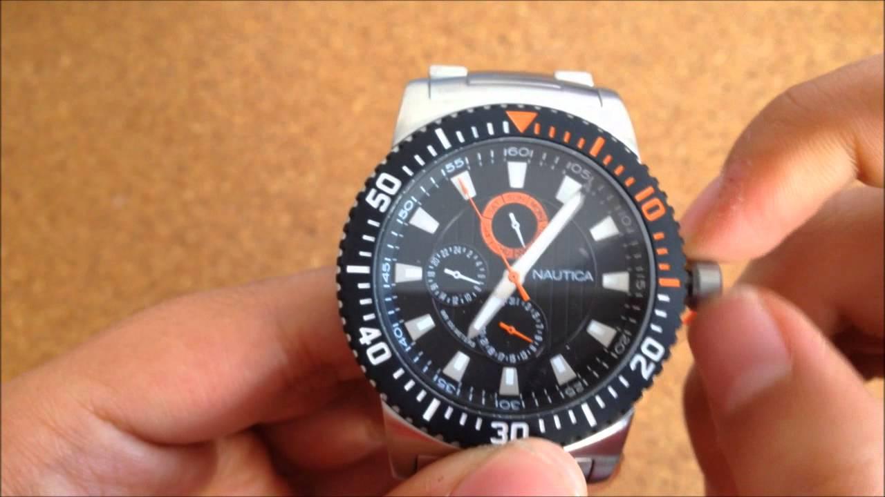 Reloj Inoxidable A18680g Naranja Arellano Y Acero Azul By De Nautica Daivid iuPkXZ